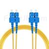 15m SC/UPC-SC/UPC デュプレックス シングルモード 光パッチケーブル(3.0mm PVC/OFNR 9/125)の画像