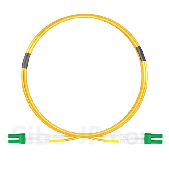 3m LC/APC-LC/APC デュプレックス シングルモード 光パッチケーブル(3.0mm PVC/OFNR 9/125)の画像