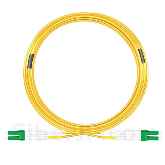 20m LC/APC-LC/APC デュプレックス シングルモード 光パッチケーブル(3.0mm PVC/OFNR 9/125)の画像