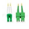 10m LC/APC-SC/APC デュプレックス シングルモード 光パッチケーブル(3.0mm PVC/OFNR 9/125)の画像