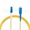 10m LC/UPC-SC/UPC シンプレックス シングルモード 光パッチケーブル(2.0mm PVC/OFNR OS2)の画像