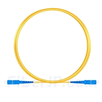 2m SC/UPC-SC/UPC シンプレックス シングルモード 光パッチケーブル(2.0mm PVC/OFNR OS2)の画像
