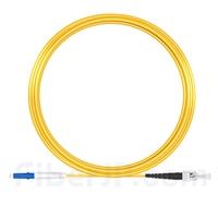 15m LC/UPC-ST/UPC シンプレックス シングルモード 光パッチケーブル(2.0mm PVC/OFNR OS2)の画像
