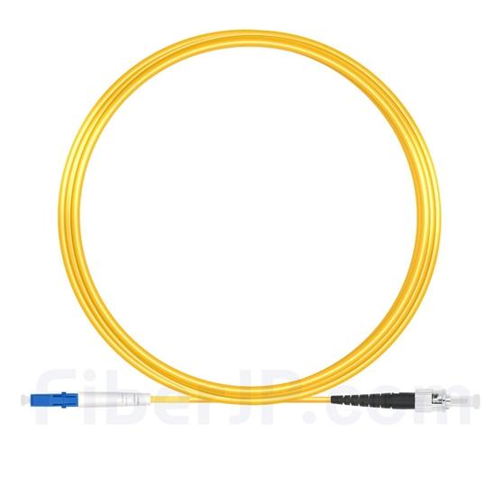 10m LC/UPC-ST/UPC シンプレックス シングルモード 光パッチケーブル(2.0mm PVC/OFNR OS2)の画像