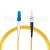 7m LC/UPC-ST/UPC シンプレックス シングルモード 光パッチケーブル(2.0mm PVC/OFNR OS2)の画像