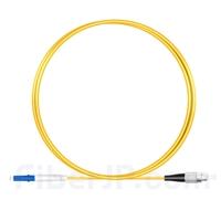 1m LC/UPC-FC/UPC シンプレックス シングルモード 光パッチケーブル(2.0mm PVC/OFNR OS2)の画像