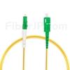 3m LC/APC-SC/APC シンプレックス シングルモード 光パッチケーブル(2.0mm PVC/OFNR OS2)の画像