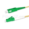 15m LC/APC-SC/APC シンプレックス シングルモード 光パッチケーブル(2.0mm PVC/OFNR OS2)の画像
