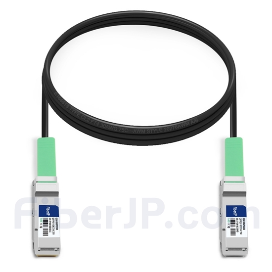 3m Arista Networks CAB-Q-Q-100G-3M対応互換 100G QSFP28パッシブダイレクトアタッチ銅製Twinaxケーブル(DAC)の画像