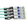 2m Brocade 100G-Q28-S28-AOC-0201対応互換 100G QSFP28/4x25G SFP28ブレイクアウトアクティブオプティカルケーブル(AOC)の画像