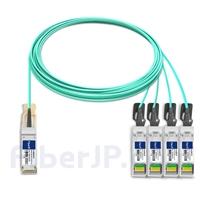 15m Brocade 100G-Q28-S28-AOC-1501対応互換 100G QSFP28/4x25G SFP28ブレイクアウトアクティブオプティカルケーブル(AOC)の画像