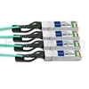 7m 汎用 対応互換 100G QSFP28/4x25G SFP28ブレイクアウトアクティブオプティカルケーブル(AOC)の画像