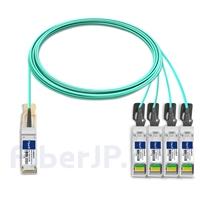 10m 汎用 対応互換 100G QSFP28/4x25G SFP28ブレイクアウトアクティブオプティカルケーブル(AOC)の画像