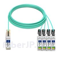 30m 汎用 対応互換 100G QSFP28/4x25G SFP28ブレイクアウトアクティブオプティカルケーブル(AOC)の画像
