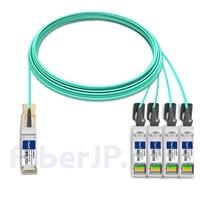 20m H3C QSFP28-4SFP28-AOC-20M対応互換 100G QSFP28/4x25G SFP28ブレイクアウトアクティブオプティカルケーブル(AOC)の画像