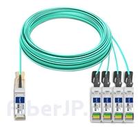 50m H3C QSFP28-4SFP28-AOC-50M対応互換 100G QSFP28/4x25G SFP28ブレイクアウトアクティブオプティカルケーブル(AOC)の画像