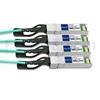 5m Cisco QSFP-4X10G-AOC5M対応互換 40G QSFP+/4x10G SFP+ブレイクアウトアクティブオプティカルケーブル(AOC)の画像