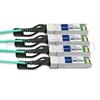 10m Cisco QSFP-4X10G-AOC10M対応互換 40G QSFP+/4x10G SFP+ブレイクアウトアクティブオプティカルケーブル(AOC)の画像