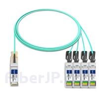 3m Dell (DE) CBL-QSFP-4X10G-AOC3M対応互換 40G QSFP+/4x10G SFP+ブレイクアウトアクティブオプティカルケーブル(AOC)の画像