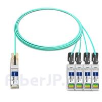 5m Extreme Networks 10GB-4-F05-QSFP対応互換 40G QSFP+/4x10G SFP+ブレイクアウトアクティブオプティカルケーブル(AOC)の画像