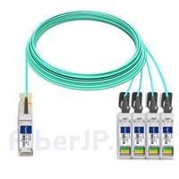 25m H3C QSFP-4X10G-D-AOC-25M対応互換 40G QSFP+/4x10G SFP+ブレイクアウトアクティブオプティカルケーブル(AOC)の画像