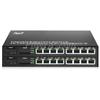 8x 10/100 / 1000Base-T RJ45 ~ 1x 1000Base-X SFP Rainure SC アンマネージド型ギガビットイーサネットメディアコンバーター、シングルファイバー、1310nm / 1550nm、20kmの画像