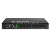 アンマネージド型ギガビットイーサネットメディアコンバーター(2x 10/100/1000Base-T RJ45~8x 1000Base-X SFP)の画像