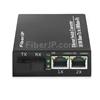 2x 10/100Base-T RJ45 vers 1x 100Base-X SFP Rainure SC アンマネージド型ギガビットイーサネットメディアコンバーター、シングルファイバー、1310nm/1550nm,20kmの画像