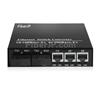 2x 10/100Base-T RJ45 vers 2x 100Base-X SFP Rainure SC アンマネージド型ギガビットイーサネットメディアコンバーター、シングルファイバー、1310nm/1550nm,20kmの画像