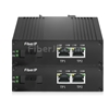 2x 10/100Base-T RJ45 vers 1x 100Base-X SFP Rainure SCアンマネージド型ギガビットイーサネットメディアコンバーター、シングルファイバー、1310nm/1550nm,20km工業級の画像