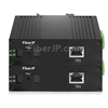 1x 10/100/1000Base-T RJ45 vers 1x 1000Base-X SFP Rainure SC アンマネージド型ギガビットイーサネットメディアコンバーター、シングルファイバー、1310nm/1550nm,20km工業級の画像
