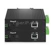 ミニ 1x 10/100/1000Base-T RJ45 vers 1x 1000Base-X SFP Rainure SC アンマネージド型ギガビットイーサネットメディアコンバーター、シングルファイバー、1310nm/1550nm,20km工業級の画像