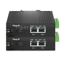 ミニ 2x 10/100/1000Base-T RJ45 vers 1x 1000Base-X SFP Rainure SC アンマネージド型ギガビットイーサネットメディアコンバーター、シングルファイバー、1310nm/1550nm,20km工業級の画像
