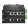 ミニ 4x 10/100/1000Base-T RJ45 vers 1x 1000Base-X SFP Rainure SC アンマネージド型ギガビットイーサネットメディアコンバーター、シングルファイバー、1310nm/1550nm,20km工業級の画像