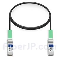 1m Dell (DE) Force10 CBL-QSFP-40GE-PASS-1M対応互換 40G QSFP+パッシブダイレクトアタッチ銅製ケーブル(DAC)の画像