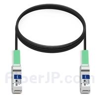 3m 汎用 対応互換 40G QSFP+パッシブダイレクトアタッチ銅製ケーブル(DAC)の画像