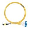 10m MTPメス-4LC/UPC デュープレックス 8芯 OS2 9/125 シングルモード ブレイクアウトケーブル(タイプB、エリート、LSZH、黄色)の画像