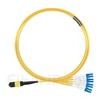 5m MTPメス-4LC/UPC デュープレックス 8芯 OS2 9/125 シングルモード ブレイクアウトケーブル(タイプB、エリート、LSZH、黄色)の画像