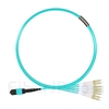 5m MTPメス-4LC/UPC デュープレックス 8芯 OM3 50/125 マルチモード ブレイクアウトケーブル(タイプB、エリート、LSZH、水色)の画像