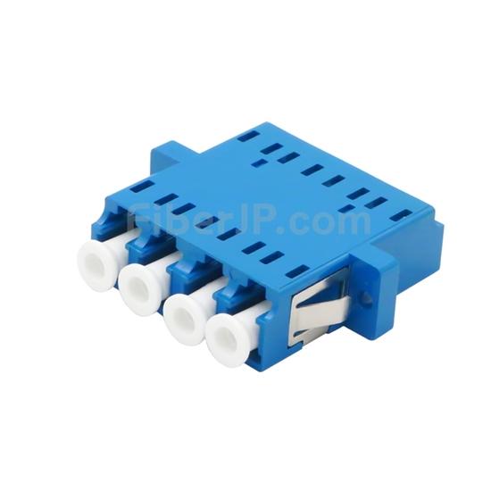 LC/UPC-LC/UPC 4芯 シングルモード プラスチック製光ファイバアダプター/嵌合スリーブ(フランジ付き)の画像