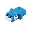 LC/UPC-LC/UPC デュプレックス シングルモード SC型 プラスチック製光ファイバアダプター/嵌合スリーブ(フランジ付き)の画像