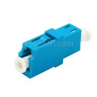 LC/UPC-LC/UPC 10G シンプレックス マルチモード プラスチック製光ファイバアダプター/嵌合スリーブ(OM3、フランジなし、水色)