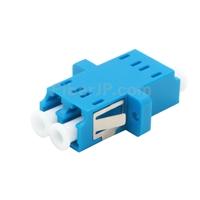 LC/UPC-LC/UPC 10G デュプレックス マルチモード SC型 プラスチック製光ファイバアダプター/嵌合スリーブ(OM3、フランジ付き、水色)の画像