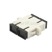 SC/UPC-SC/UPC デュプレックス プラスチック製光ファイバアダプター/嵌合スリーブ(OM1/OM2、フランジ付き)の画像