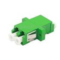 LC/APC-LC/APC デュプレックス シングルモード プラスチック製光ファイバアダプター/嵌合スリーブ(フランジ付き)の画像