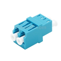 LC/UPC-LC/UPC デュプレックス マルチモード 標準型光ファイバアダプター/嵌合スリーブ(OM3/OM4、フランジなし)の画像
