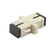 SC/UPC-SC/UPC シンプレックス プラスチック製光ファイバアダプター/嵌合スリーブ(OM1/OM2、フランジ付き)