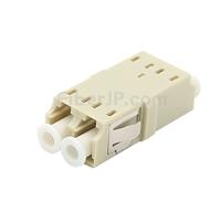 LC/UPC-LC/UPC デュプレックス SC型プラスチック製光ファイバアダプター/嵌合スリーブ(OM1/OM2、フランジなし)