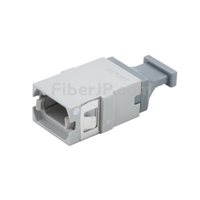 MTP/MPO 光ファイバアダプター/嵌合スリーブ(フランジなし、整列キー、Up-Up、灰色)の画像