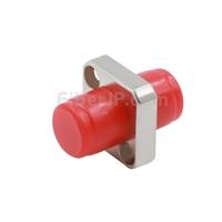 FC/UPC-FC/UPC シンプレックス シングルモード/マルチモード 角形 固体型 金属製光ファイバアダプター/嵌合スリーブ(フランジ付き、一体型)の画像